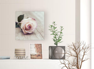 contemporary vintage shabby chic french rose cream canvas modern 49cm square 1s278s for your bedroom