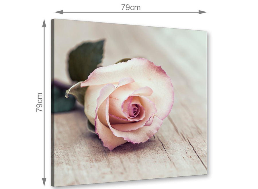 chic vintage shabby chic french rose cream realism canvas modern 79cm square 1s278l for your living room