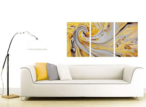 contemporary yellow and grey spiral swirl abstract canvas split set of 3 3290 for your hallway