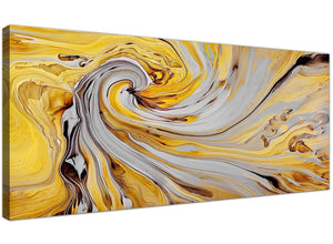 cheap yellow and grey spiral swirl abstract canvas modern 120cm wide 1290 for your hallway