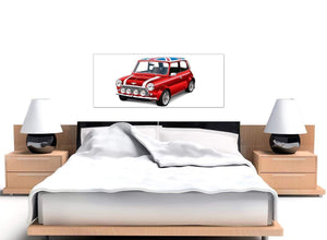 oversized mini cooper lifestyle canvas modern 120cm wide 1277 for your boys bedroom