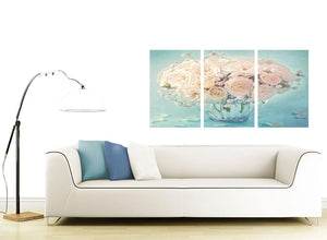 contemporary duck egg blue and white roses flowers floral canvas split triptych 3286 for your girls bedroom