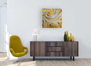 modern mustard yellow and grey spiral swirl abstract canvas modern 64cm square 1s290m for your bedroom