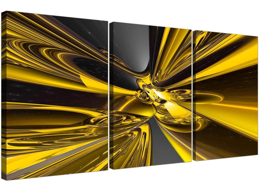 3 panel yellow abstract canvas prints uk 3256