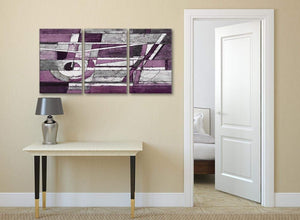 3 Panel Aubergine Grey White Painting Kitchen Canvas Wall Art Decor - Abstract 3406 - 126cm Set of Prints