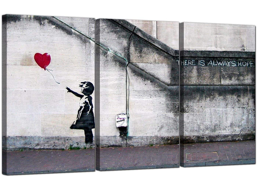 Set of Three Graffiti Canvas Prints Banksy 3050