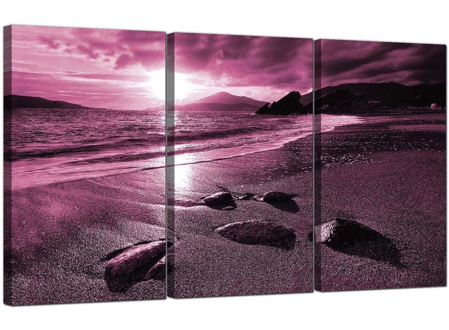 Set of 3 Seascape Canvas Art Beach Landscape 3078