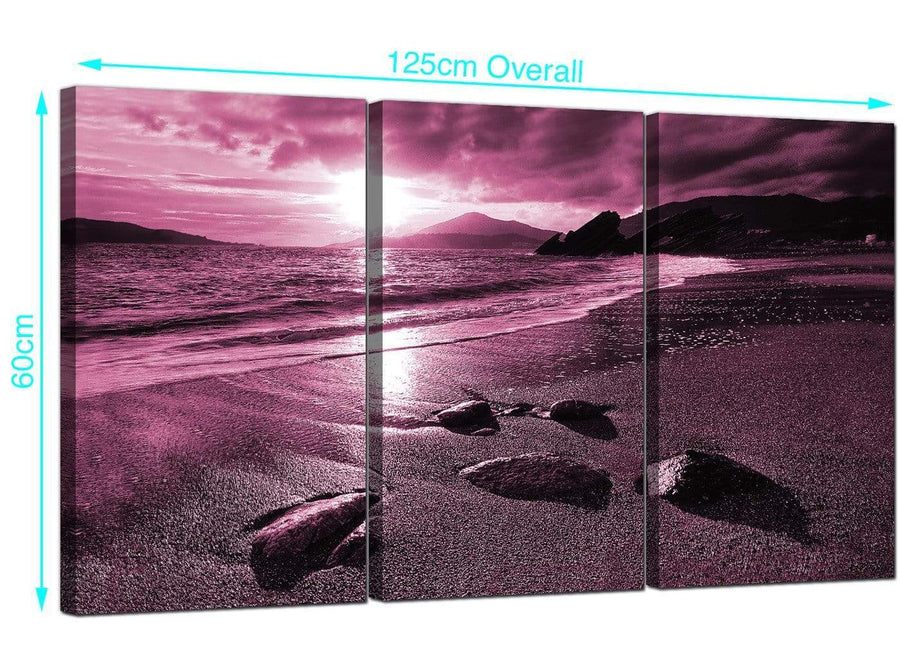 3 Panel Seaside Canvas Pictures 125cm x 60cm 3078