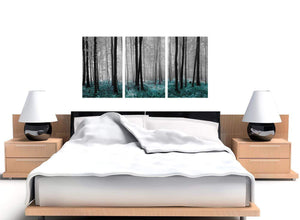 3 panel black and white forest woodland trees canvas wall art 3242