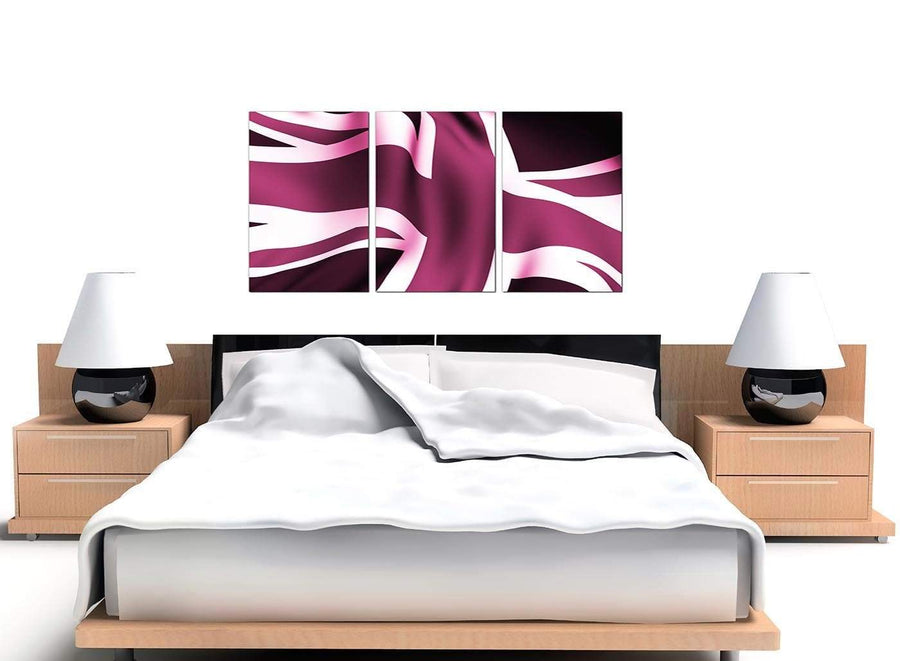 Union Flag Large Plum Canvas Wall Art