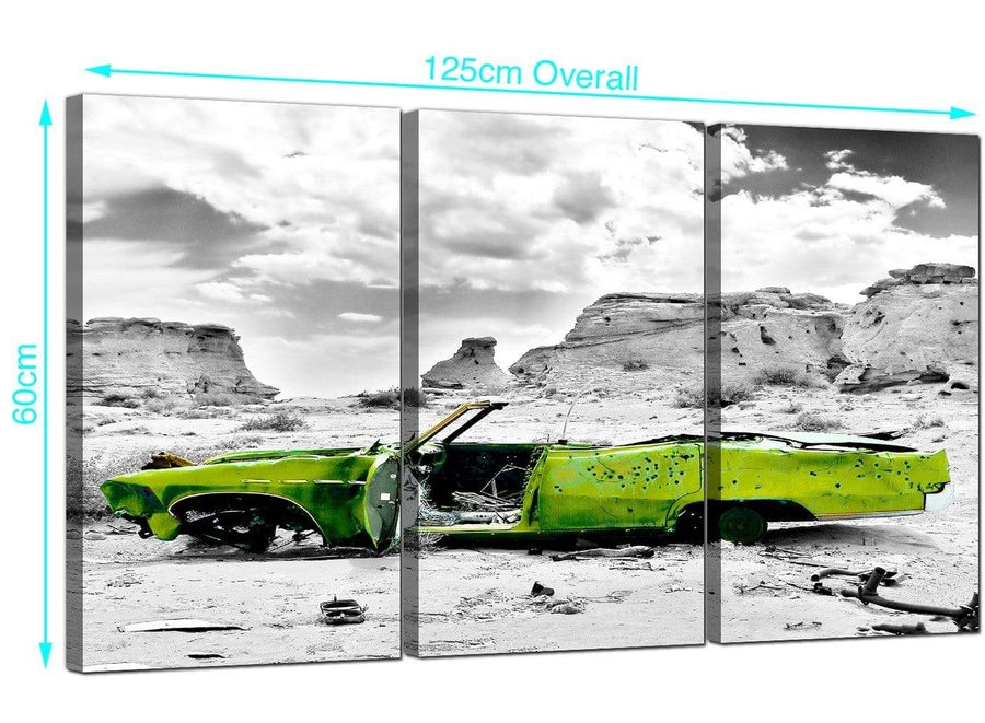 Set of 3 Car Canvas Prints 125cm x 60cm 3143