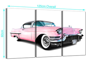 Set of 3 Car Canvas Pictures 125cm x 60cm 3040