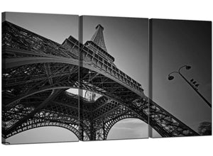 Set of Three City Canvas Art Eiffel Tower Paris 3016
