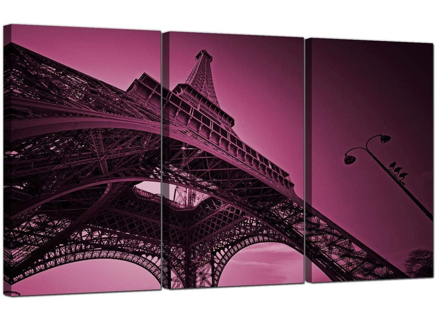 Set of 3 Cityscape Canvas Prints Eiffel Tower Paris 3015