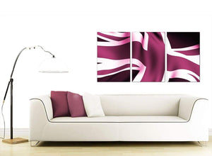Plum Purple Union Jack Flag Abstract Canvas