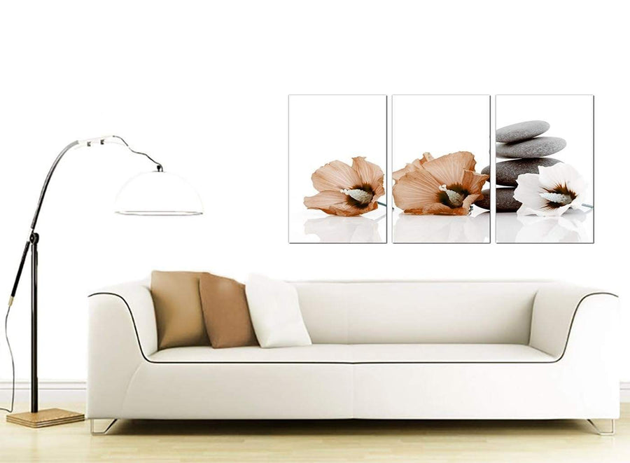 Set of 3 Floral Canvas Pictures 125cm x 60cm 3073