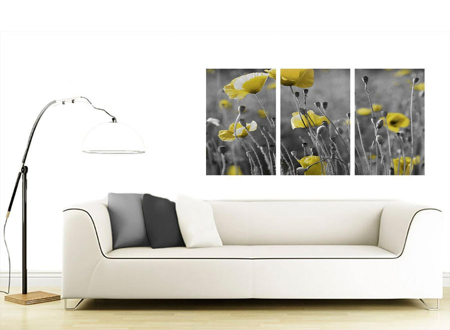 3 panel flower canvas art living room 3258