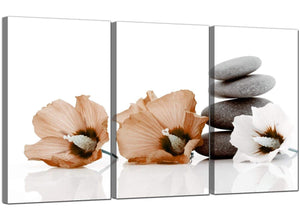 3 Part Floral Canvas Prints UK Hibiscus 3073