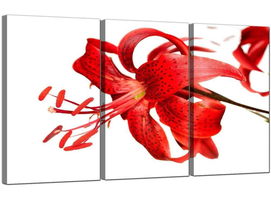 3 Part Flowers Canvas Wall Art Lily 3052