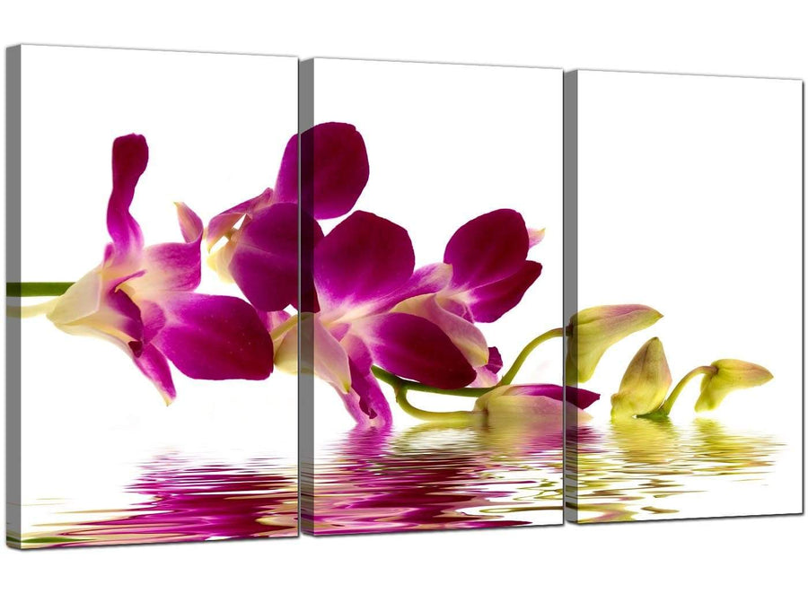3 Panel Floral Canvas Prints Orchids 3021