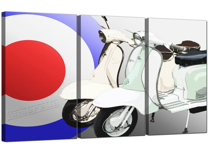 3 Panel Automotive Canvas Pictures Lambretta 3150