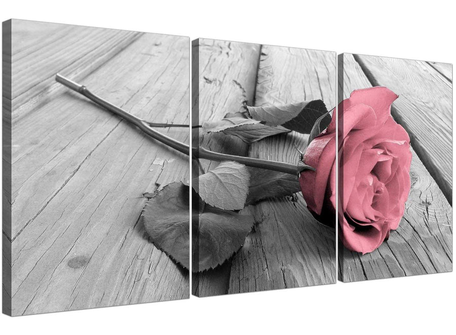3 panel rose canvas pictures living room 3271