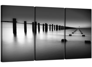 Set of 3 Seaside Canvas Prints UK Sea 3085