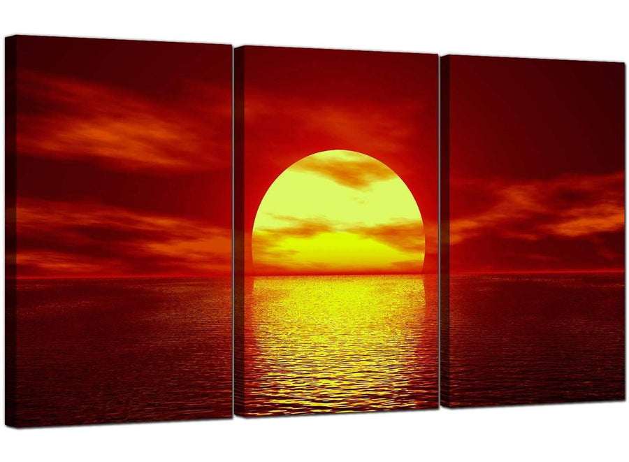 Set of 3 Sea Canvas Pictures Landscape 3001