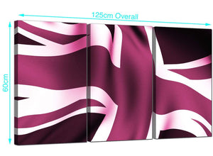 Cheap Plum Large Canvas of Union Flag