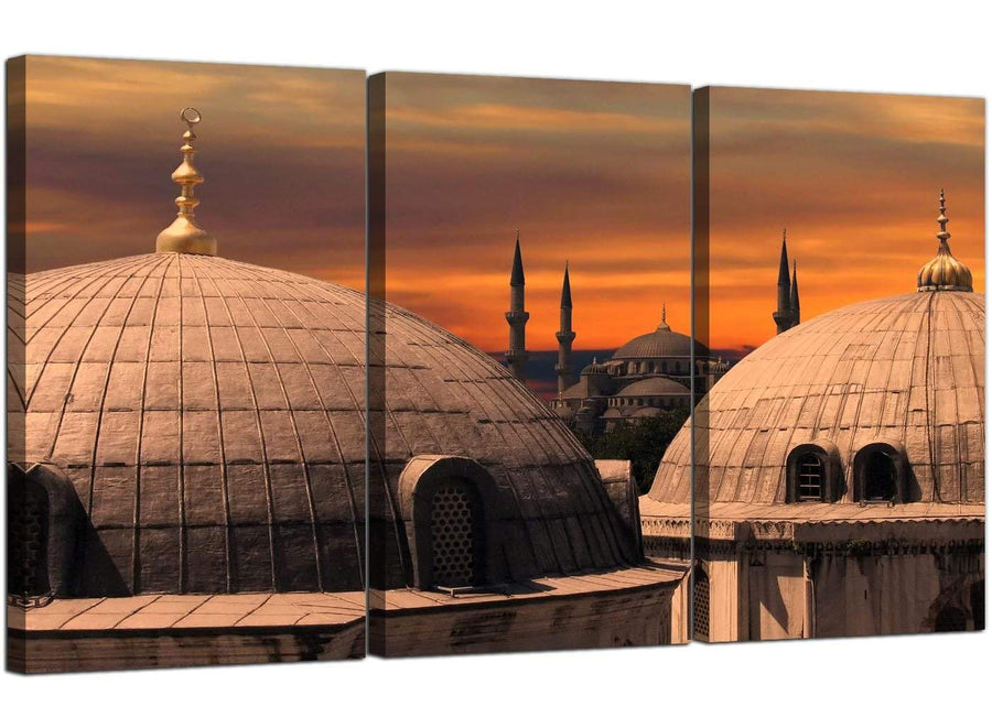 3 Panel Muslim Canvas Wall Art Istanbul Turkey 3192