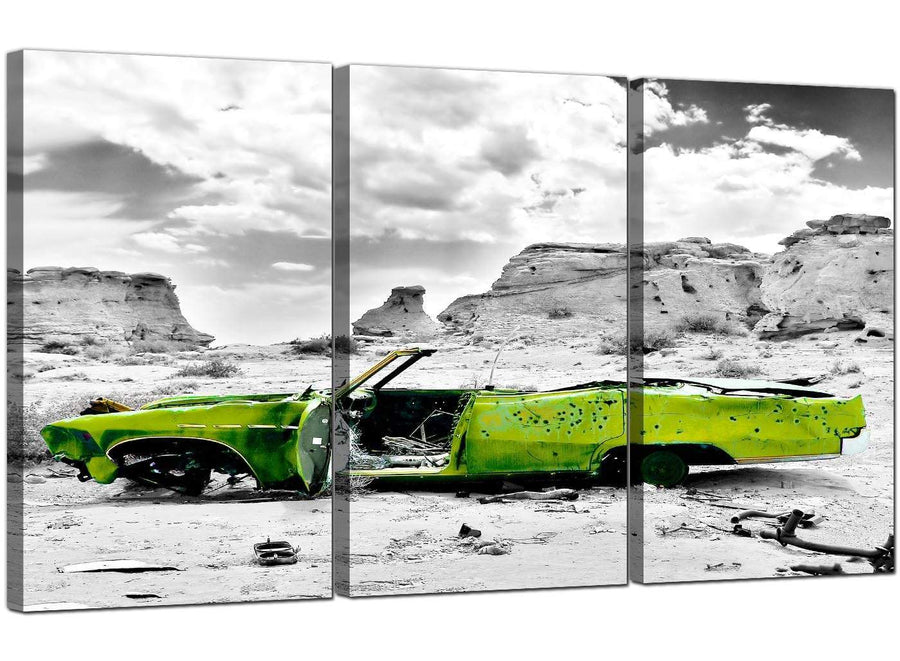 Set of 3 Desert Canvas Art Car 3143