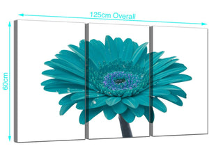 Set of Three Gerbera Canvas Art 125cm x 60cm 3114