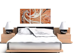 3 part orange abstract swirl canvas prints 3264