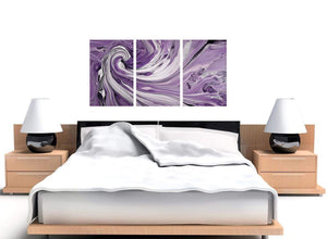 3 part purple purple and white spiral swirl canvas art 3270