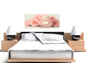 oversized shabby chic pink cream rose perfume girls bedroom floral canvas modern 120cm wide 1285 for your teenage girls bedroom