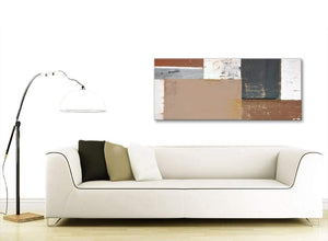 Contemporary Brown Beige Grey Abstract Painting Wall Art Print Canvas Modern 120cm Wide 1335 For Your Living Room