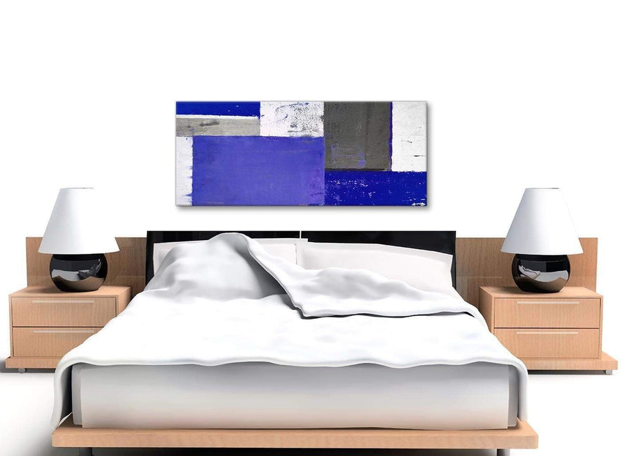 Cheap Indigo Navy Blue Abstract Painting Canvas Wall Art Print Modern 120cm Wide 1338 For Your Living Room