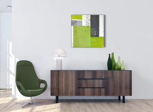 Cheap Lime Green Grey Abstract Painting Canvas Wall Art Print Modern 64cm Square 1S339M For Your Living Room