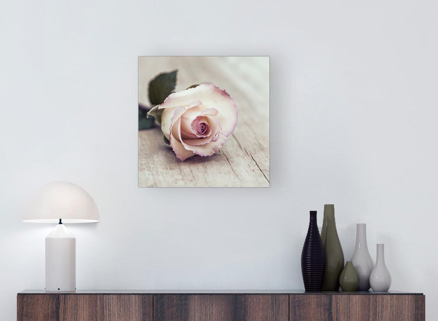 chic vintage shabby chic french rose cream canvas modern 49cm square 1s278s for your girls bedroom