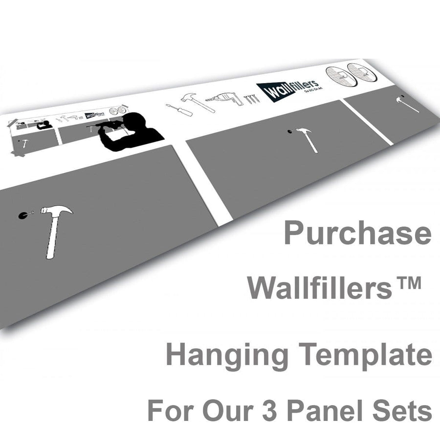 Wallfillers Hanging Template for 3 Panel Canves Sets