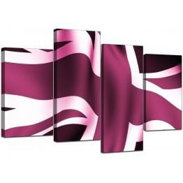 Plum Cheap Large Canvas of Union Flag