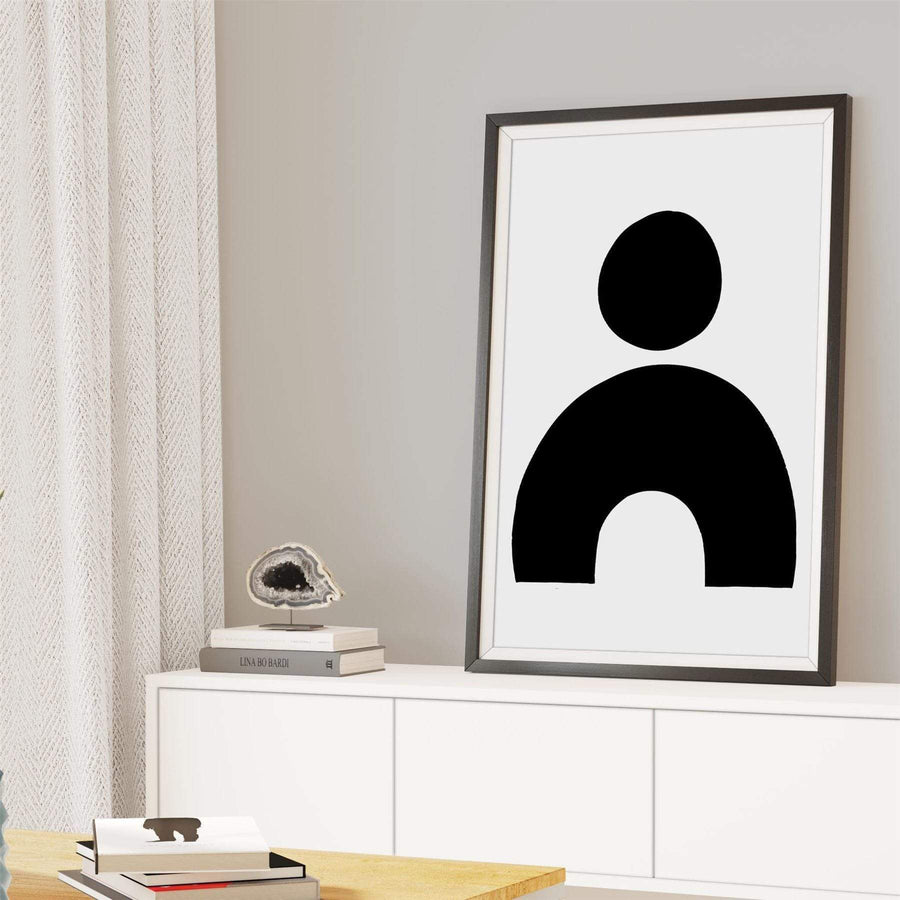 Abstract Black White Graphic Framed Art Prints