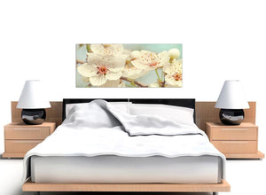 oversized japanese cherry blossom duck egg blue white floral canvas modern 120cm wide 1289 for your girls bedroom