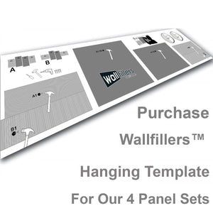 Wallfillers Hanging Template for 4 Panel Sets