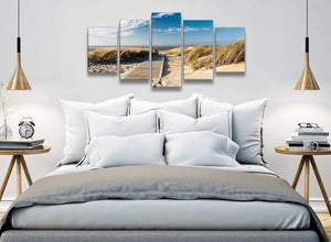 5 Piece Landscape Canvas Wall Art Prints - Pathway to the Ocean - 5197 - 160cm XL Set Artwork