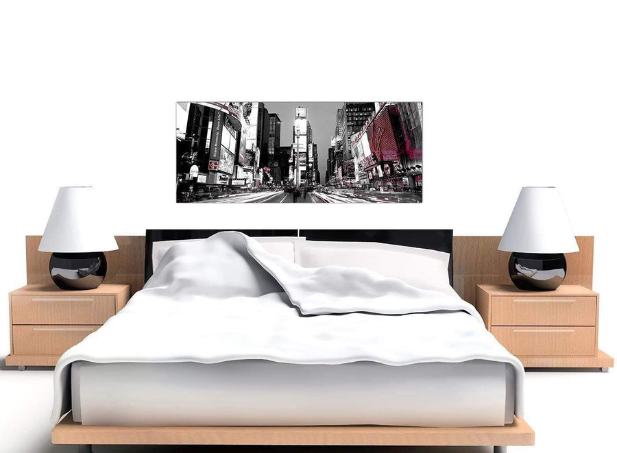 New York Times Square Red Black White Cityscape Canvas