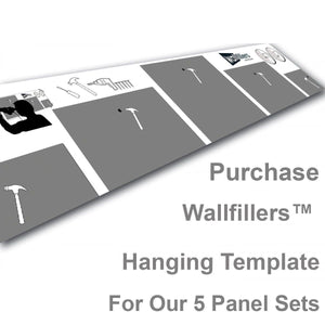 Wallfillers Hanging Template for 5 Panels Sets
