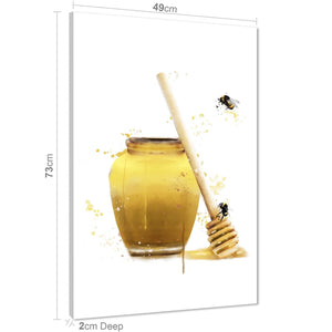 Honey Bee Canvas Art Prints - Yellow Black