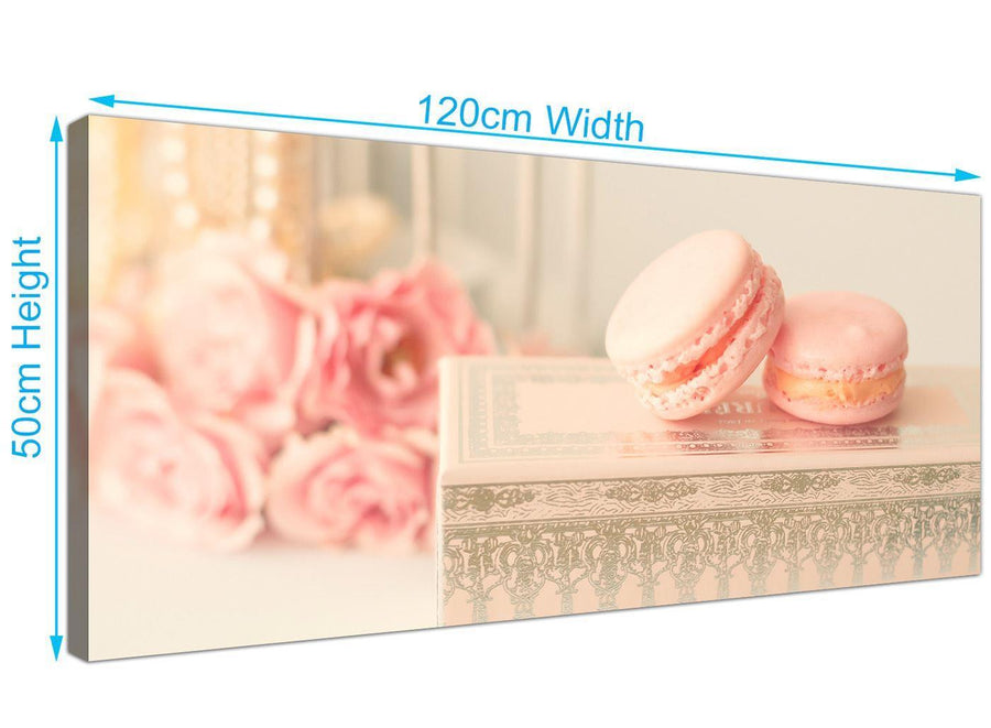 panoramic pink cream french shabby chic bedroom abstract canvas modern 120cm wide 1284 for your bedroom