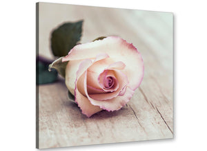 cheap vintage shabby chic french rose cream floral gardens canvas modern 64cm square 1s278m for your girls bedroom